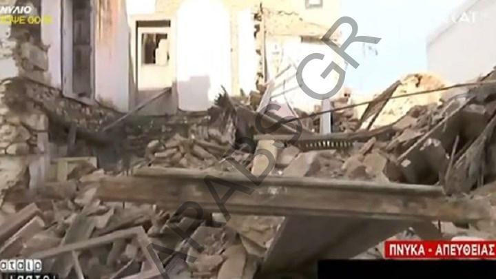 انهيار منزل مهجور في وسط أثينا دون اصابات – فيديو